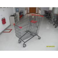 270L Grocery Store Cart With Four PU Casters / Anti - UV Plastic Parts