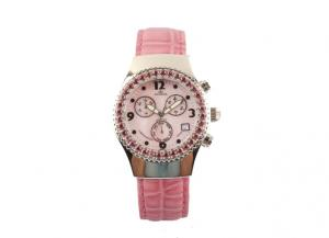 Pink 38.0mm Mop Dial Multi Functional Watches For Ladies OEM Service