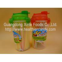 Personalized Fruit Flavor CC Hard Candy Sticks Sweets In Cup OEM Available