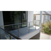 Glass Railing/ Glass Balustrade with Stainless Steel Post for Balcony Design