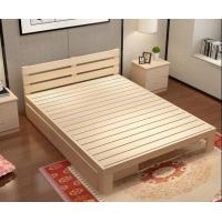 Modern Family Solid Wood Bed Frame Strong Structure High Standard Practical