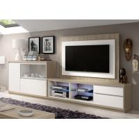 Matt Lacquer Painting And Melamine TV Entertainment Wall Unit Fire - Proof Anti - Fading