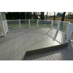 China Wood Plastic Composite Outdoor Flooring And Fence For Balcony , Engineered Decking on sale