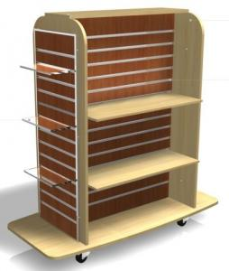 Garment Gondola Acrylic Shelf Mdf Slatwall Display Units 4