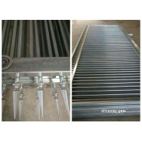 Decorated Top Steel Sliding Automatic Driveway Gates Security For Community