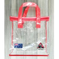 Zippered Clear PVC Household Storage Bags Portable Transparent Shopping Bag With Handles
