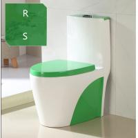 Green color ceramic hotel bathroom one piece siphonic good sale top dual flushing toilet bowl