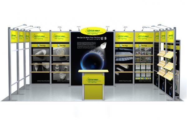 Aluminium Modular Exhibition Stands : Aluminum exhibit trade show booth display