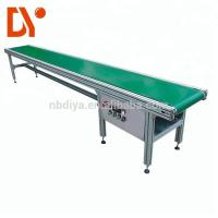 Double Face Belt Conveyor Belt System DY90 Green Rubber Plastic With Aluminum Alloy