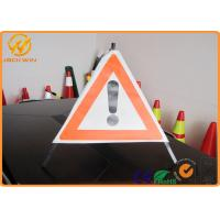 70cm Length Exclamation Mark triangle road signs with Stable Aluminum Frame
