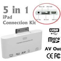 5in1 Camera Connection Kit With Mini USB Data Cable For IPad