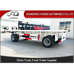 China 30 - 50 TonTowing Draw Bar Trailer Flat Bed / Chassis Shape Fuwa / BPW Axle on sale