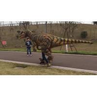 Walking man-made human-controlled dinosaur costume