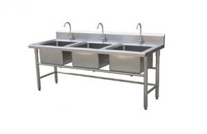Triple Sink Commercial : China Single / Double / Triple Bowl Commercial Stainless Steel Sinks ...