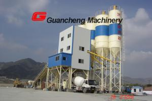 Moving design concrete batching mixing plant , Compact cement mixing plant