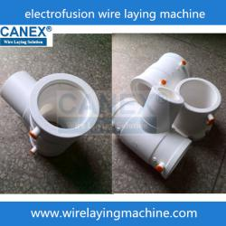 China PPR ISO 15874 Electro fusion fittings wire laying machine on sale