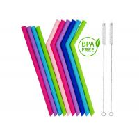 Reusable Silicone Smoothie Straws BPA Free - EXTRA WIDE , Eco Friendly for Safely Drinking Hot & Cold