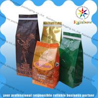 Stand Up Coffee / Tea Plastic Packaging Bag Side Gusset  Custom Printing With Valve