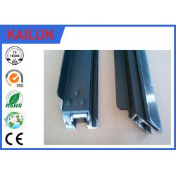 China Black Anodized Alum ZEP Solar Panel Frame Material with Four Corner Key Block Easy Installed on sale