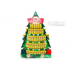 China Food Potato Chips Cardboard Pallet Display For Christmas Promotion on sale