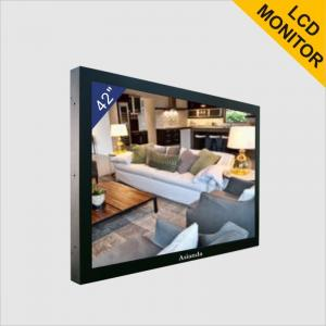 High Resolution 1080P CCTV LCD Monitor Advertising LCD Screens For Police Office