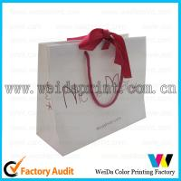 Colorful Gold Stamping 80gsm Brown Kraft Paper Carrier Bags Printed for Shopping
