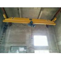 Single Girder Underslung Bridge Crane 2 Tons Suspension Overhead Crane With Portable Industrial Wireless Remote Controls