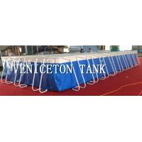 cheap price large foldable metal frame PVC swimming pools blud color for sale