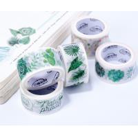 Custom Printed Colored Rice Paper Decorative Waterproof Adhesive washi Masking Tape