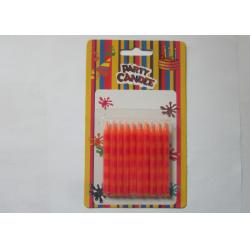 China Special Orange Stripe Silk Screen Printing Party Pillar Candles for Birthday on sale