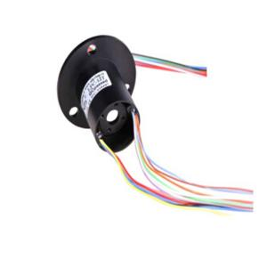 6mm Through Hole Size High Speed Rotary Slip Ring Gold - Gold Contacts CCTV 30 Circuits Rotary Electrical Interface