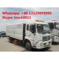 hot sale dongfeng tianjin street sweeper truck(3cbm water tank+7.2cbm dust bin), best price road cleaning truck for sale