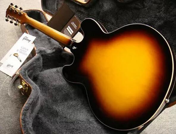 laminated maple left handed electric guitars memphis es-335 semi