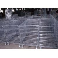 Mild Steel Metal Pallet Cage , Collapsible Pallet Cages 20 Cm Folding Height