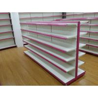 Double sided gondola supermarket shelf , convenience store shelving for products display