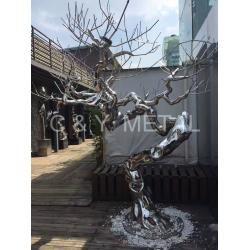 China 304 Stainless steel tree trunk component with 8k.best decoration for interior and outdoor on sale