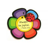 3D Flower Rubber Personalized Fridge Magnet with Offset Printing , ROHS