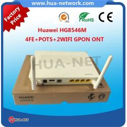 China White plastic 100% Original New HUAWEI EchoLife GPON ONU/ONT HG8546M 4FE+POTS+2WIFI+USB with competitive price on sale