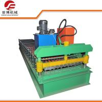 Metal Roller Shutter Door Roll Forming Machine Easy Operate With Hydraulic Cutting
