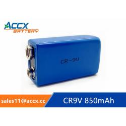 China CR9V 850mAh 9v lithium battery for Alarms and security devices on sale