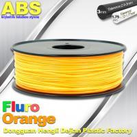 Eco Friendly ABS 3D Printer Filament 1.75mm Fluro Orange 3D Printing Filament