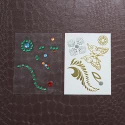China Decoration Rhinestone Tattoo Stickers , Self Adhesive Rhinestones For Face on sale