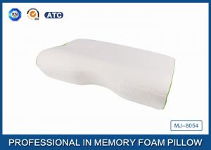 orthopedic curved memory foam pillow with bamboo fiber cover