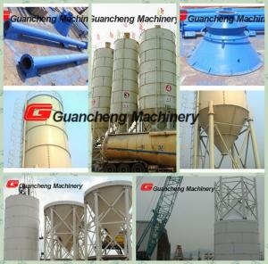 Good design white Steel piece Cement Silo with 250T for concrete batching plant