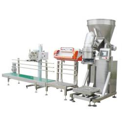 China 50kg milk powder kraft bag packing machine, wheat powder open top bag packing machine,potato starch packing machine on sale