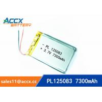 3.7V lipo battery 125083 125080 805080 7300mAh polymer lithium battery for power bank, gps tracker