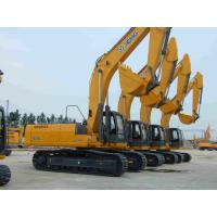 Diesel 0.34m³ Hydraulic Crawler Crane XCMG XE80 for Construction , Yellow