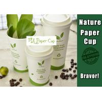 Single Wall Eco Paper Coffee Cups 8 Oz White Color Environmental Friendly