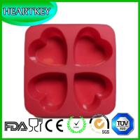 4 Heart Shape Hole Silicone Non-stick Cake Baking Pan Chocolate DIY Mold