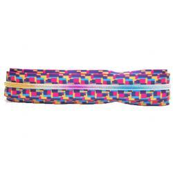 China No.5 Long Chain Derlin Rainbow Teeth Zippers   Garment  Plastic bag  wallet shoes on sale